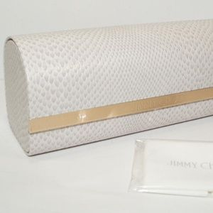 JIMMY CHOO BEIGE SNAKE SUNGLASSES GLASSES CASE